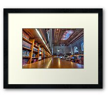 Quiet time in the New York Public Library. Framed Print