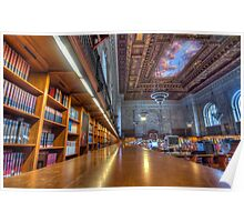 Quiet time in the New York Public Library. Poster