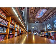 Quiet time in the New York Public Library. Photographic Print
