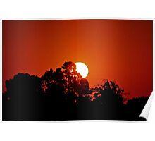 Sunrise Over Pecan Grove Park, Sherman, Texas, USA Poster