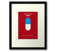 No144 My AKIRA minimal movie poster Framed Print