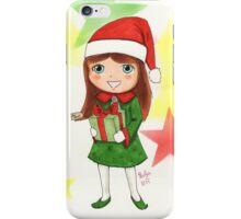 Christmas Elf Illustration iPhone Case/Skin
