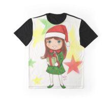 Christmas Elf Illustration Graphic T-Shirt