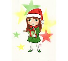 Christmas Elf Illustration Photographic Print