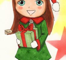 Christmas Elf Illustration Sticker