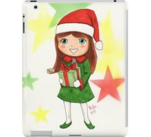 Christmas Elf Illustration iPad Case/Skin