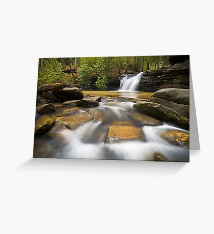 Upstate SC Waterfall Landscape Photography Blue Ridge Mountains - Flow Greeting Card