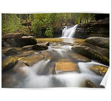 Upstate SC Waterfall Landscape Photography Blue Ridge Mountains - Flow Poster