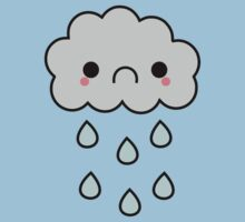 Adorable Kawaii Sad Rainy Storm Cloud Kids Clothes