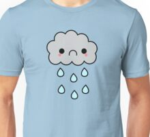 Adorable Kawaii Sad Rainy Storm Cloud Unisex T-Shirt