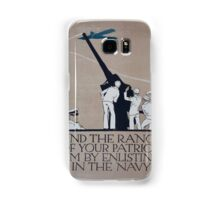 Find the range of your patriotism by enlisting in the Navy Samsung Galaxy Case/Skin
