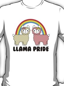 Adorable Llama Pride Black Lettering T-Shirt