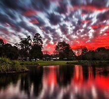 Lake Annand Toowoomba Sunset by Tim Swinson