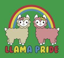Adorable Llama Pride Rainbow Lettering Kids Tee
