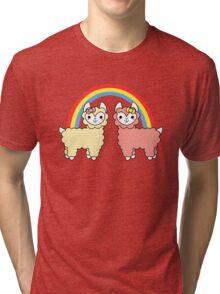 Adorable Llama Pride No Lettering Tri-blend T-Shirt