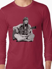 Joni Mitchell - Shaded Long Sleeve T-Shirt