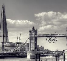 Tower Bridge and the Shard during the London Olympics by Phill Sacre