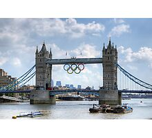 Tower Bridge during the Olympics Photographic Print