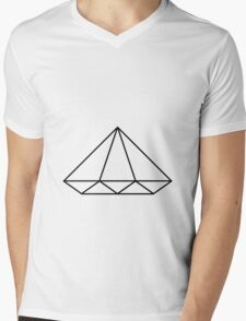 Fugitive Diamond - Clear Mens V-Neck T-Shirt