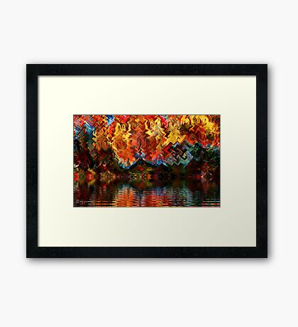Wildfire on Gnarl Lake Framed Print