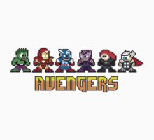 Avengers Line-Up 8 Bit by jpappas