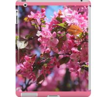 Pink Spring Crabapple Blossoms iPad Case/Skin