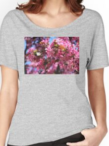 Pink Spring Crabapple Blossoms Women's Relaxed Fit T-Shirt
