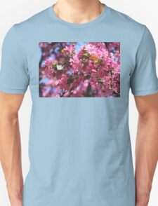 Pink Spring Crabapple Blossoms Unisex T-Shirt