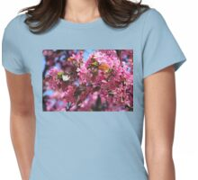 Pink Spring Crabapple Blossoms Womens Fitted T-Shirt