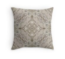 girly Rhinestone lace pearl glamorous vintage Throw Pillow