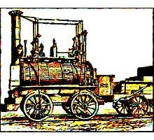 """Blücher"" a steam locomotive by George Stephenson 1814 Photographic Print"
