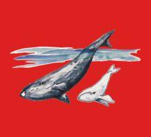 White Whale Calf One Piece - Long Sleeve