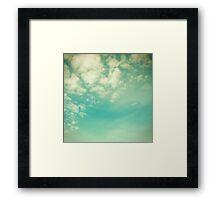 Vinatge - Retro Blue Sky Framed Print