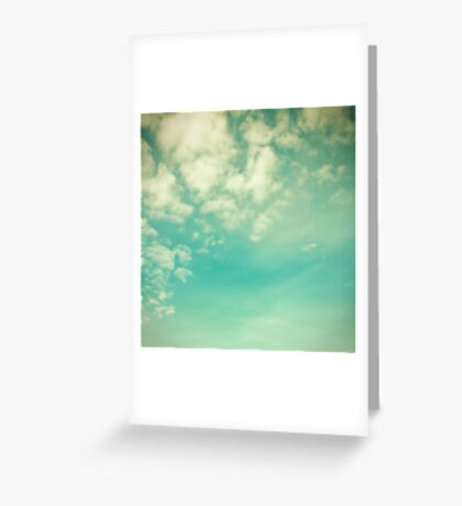 Vinatge - Retro Blue Sky Greeting Card