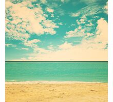 Retro Beach Photographic Print