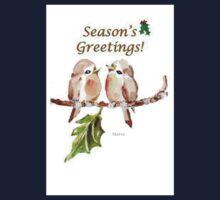 2 Little Birds - Season's Greetings! One Piece - Long Sleeve