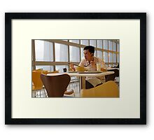 A meal before flying Framed Print