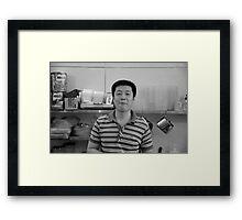 Friendly face  Framed Print