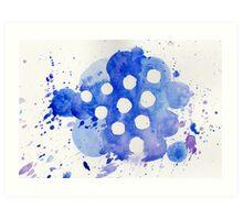 Blue Knights Watercolor Logo Art Print