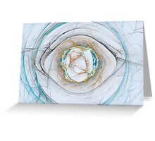 Aqua Aura Greeting Card