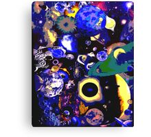 3D Inter-Galactic Worlds Comic Canvas Print
