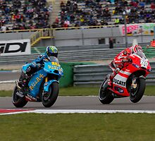 Alvaro Bautista and Nicky Hayden at Assen 2011 by corsefoto