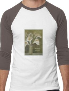 Calla Lilies Birthday Wishes Men's Baseball ¾ T-Shirt