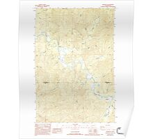 USGS Topo Map Washington State WA Brooklyn 240241 1986 24000 Poster