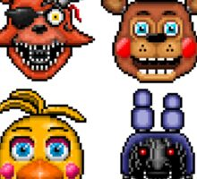 Five Nights at Freddys - Pixel art - Multiple characters Sticker