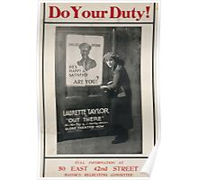 Do your duty! Full information at 50 East 42nd Street Mayors Recruiting Committee 002 Poster