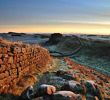 Cuddys Crag on Hadrians Wall -c10 by Joan Thirlaway