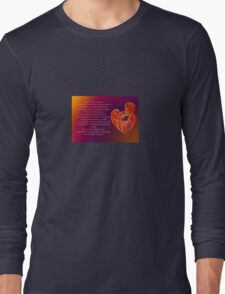 Thank You for Being You Poetry Greeting Card Long Sleeve T-Shirt