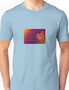 Thank You for Being You Poetry Greeting Card Unisex T-Shirt