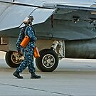 Walking with an F/A 18 by Buckwhite